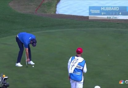 This golfer might have the weirdest putting technique ever seen