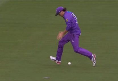 Pete Handscomb submits his nomination for the BBL's worst-ever drop