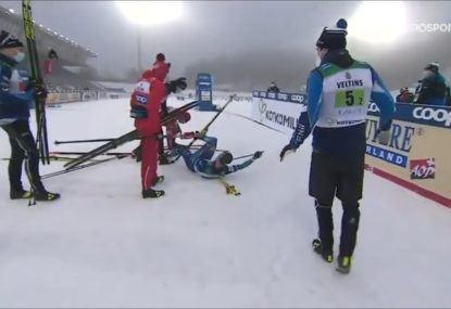 Russian skier goes ballistic, attacks opponent after race