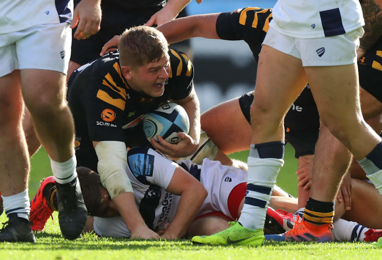 Jack Willis of Wasps at the ruck
