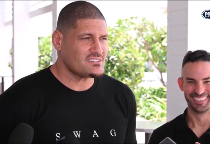 Willie Mason's hilarious response to Justin Hodges' teeth sledge has everyone in stitches