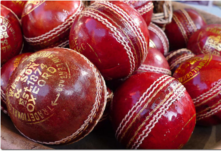 Generic cricket balls.