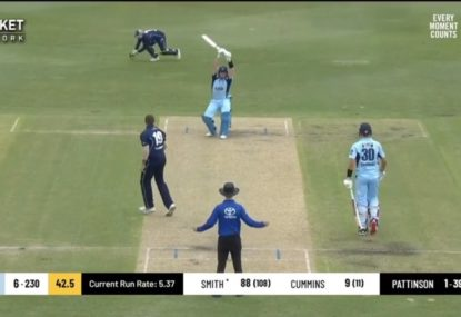 Steve Smith teases James Pattinson with leave on the way to another ton
