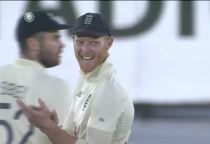 Ben Stokes booed by Indian crowd after claiming catch that appeared to hit the ground