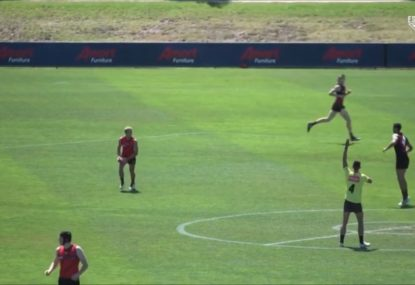 Bombers' intra-club shows just how tough the new man on the mark laws are