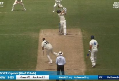Sean Abbott stuns Victoria with SIX 6s at the SCG