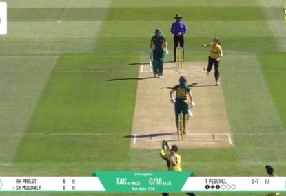 WA quick rips through Tassie's top order with back-to-back peaches