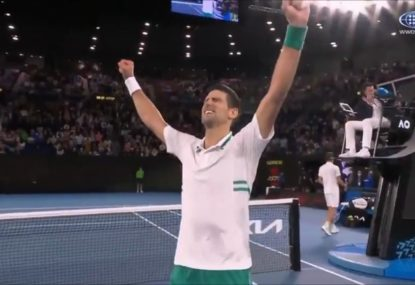 WATCH: The epic match point that secured Novak Djokovic a ninth Aus Open title