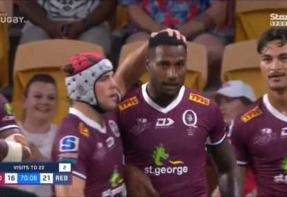 Suliasi Vunivalu comes within millimetres of the most extraordinary start to Super Rugby life