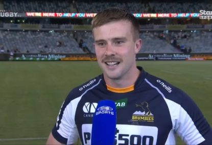 Brumbies hat-trick hero roasted after bizarre post-match claim