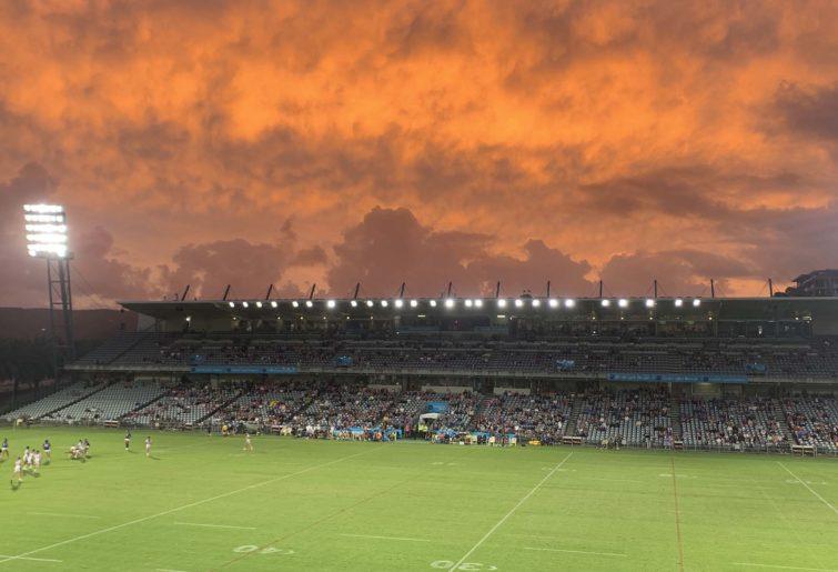 Central Coast Stadium at sunset