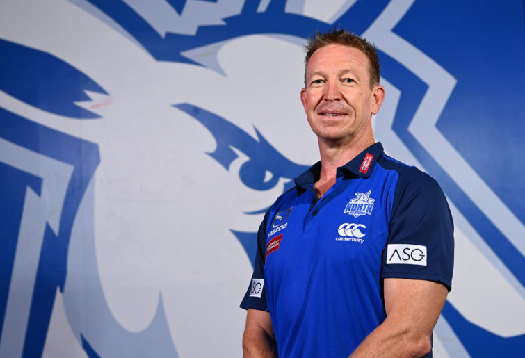 David Noble poses during a North Melbourne Kangaroos AFL media opportunity