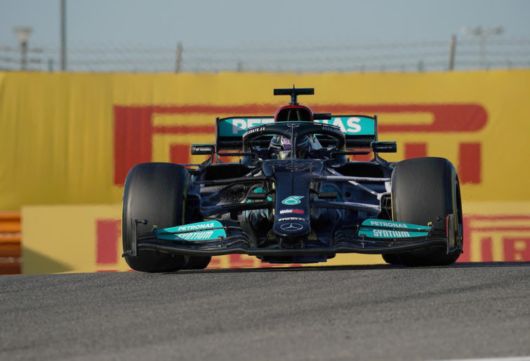 Formula 1, pre-season testing, Day 3: Lewis Hamilton of the Mercedes-AMG Petronas Formula One Team on track in Bahrain