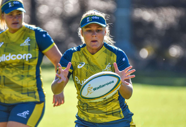 Lucy Lockhart at Wallaroos training