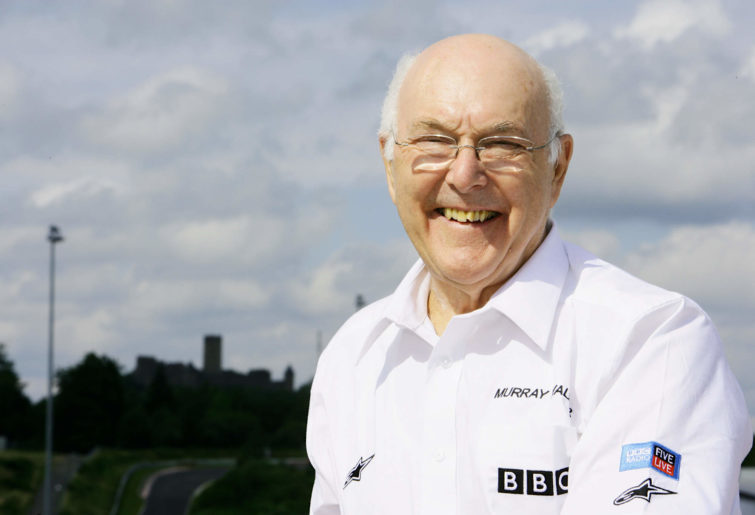 Murray Walker poses for a photo