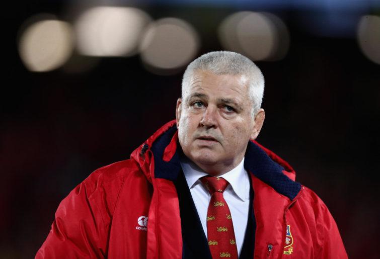 Warren Gatland, the Lions head coach looks on