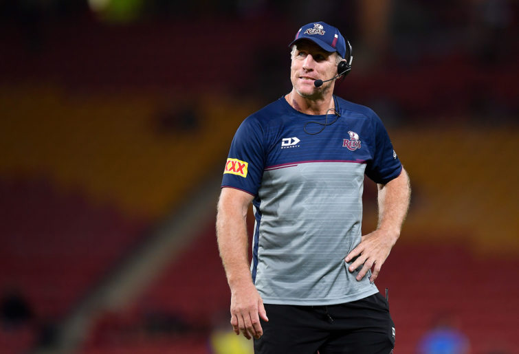 Queensland Reds coach Brad Thorn looks on