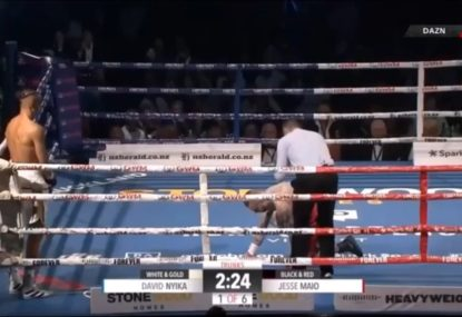 NZ boxing fans enraged as fight ends in farce after 29 seconds