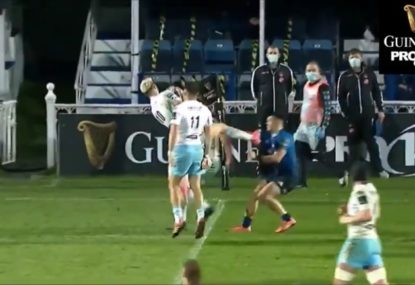 Pro 14 player's seriously dangerous technique under the high ball gets him red-carded
