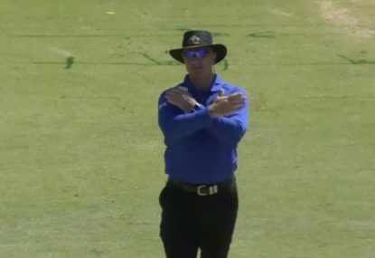 Umpire reverses his own decision without using DRS