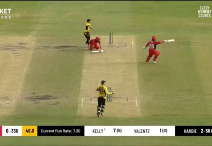 Comical run out one of FOUR as SA throw Marsh Cup match away