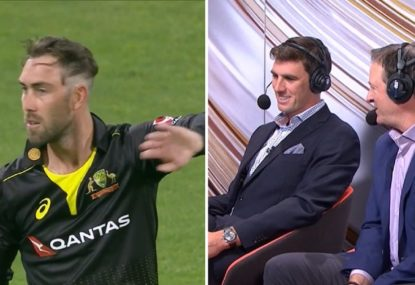 Glenn Maxwell's sloppy haircut cops a ribbing from the commentators