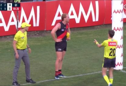 All time goal umpire howler leaves everyone relieved it's only pre-season
