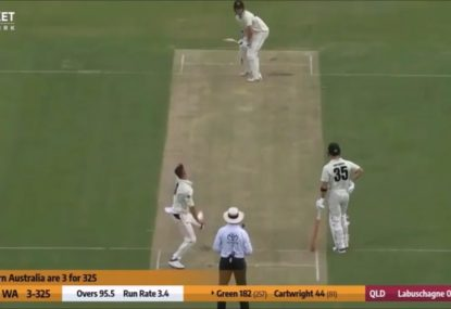 Marnus resorts to bowling seam-up to try and stop rampaging Cameron Green
