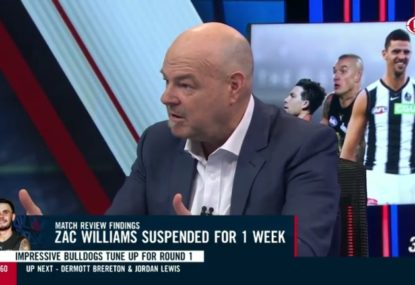 Robbo fires up at AFL system over Zac Williams suspension