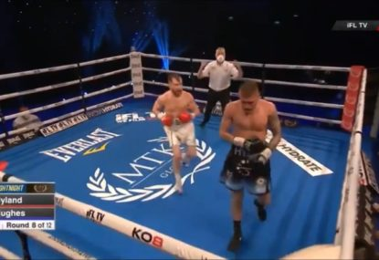 Boxer gets the shock of his life, is KOed while walking away