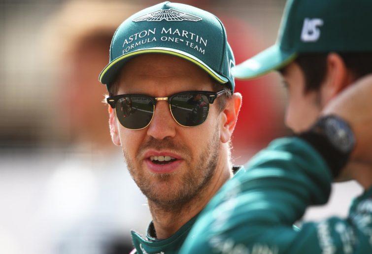 Sebastian Vettel in his new Aston Martin cap