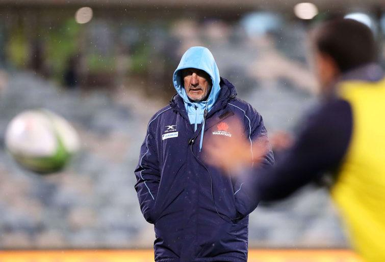 Waratahs coach Rob Penney watches on