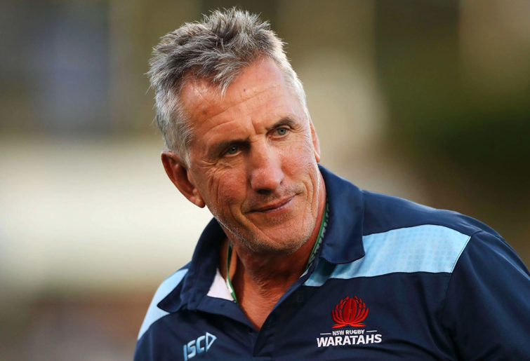 Waratahs coach Rob Penney watches on
