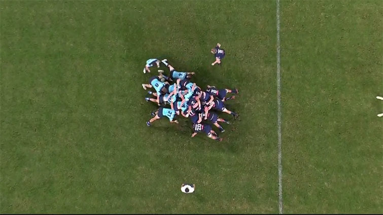 waratahs scrum vs rebels