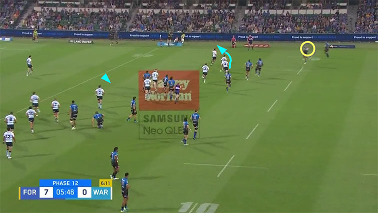 waratahs defensive line vs force