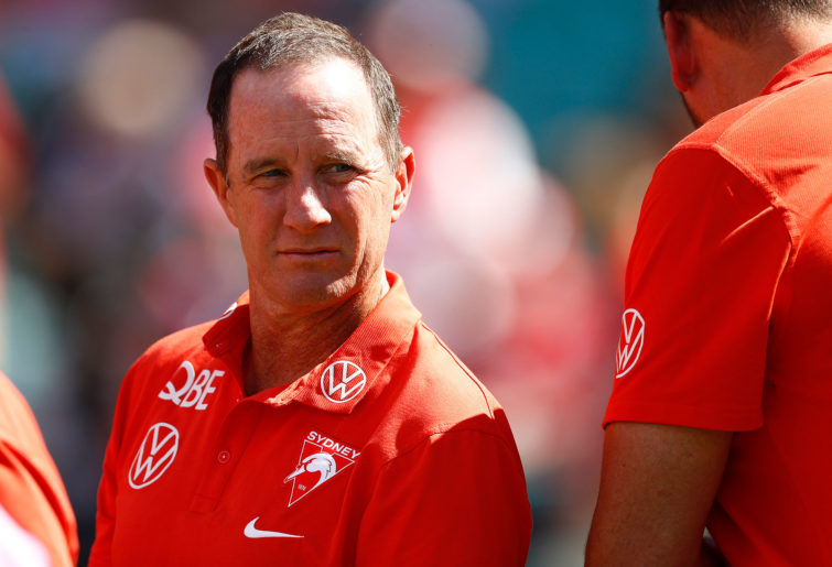 Don Pyke, assistant coach of the Swans