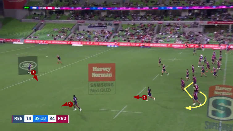queensland reds kick-chase