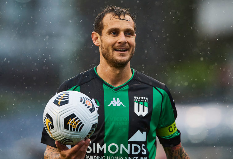 Alessandro Diamanti of Western United FC looks on