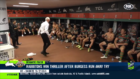 Wayne Bennett gets caught going absolutely wild after Rabbitohs' stunning win