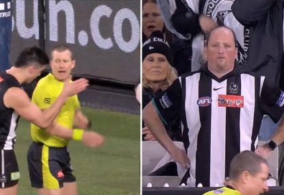 Were the Pies dudded by this controversial deliberate behind call?