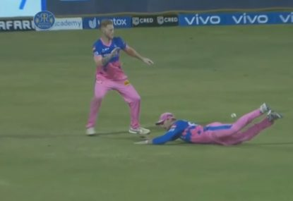 English teammates combine to stuff up a seemingly routine IPL catch