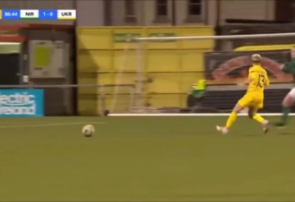 Ukranian footballer's ridiculous AFL move on opponent earns her the most obvious red card ever