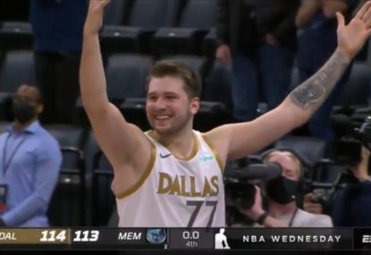 Luka Doncic's totally bonkers buzzer-beater lights up the NBA