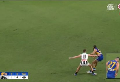 Is this Pie in strife for ugly incident with Josh Kennedy?