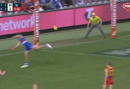 Western Bulldogs playing so well that the tough part is actually dodging the ball