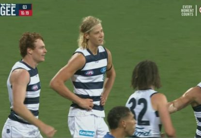 Cats debutant cheekily robbed of his maiden goal by teammate
