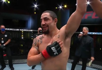 Rob Whittaker throws down the gauntlet to Israel Adesanya after crushing UFC win