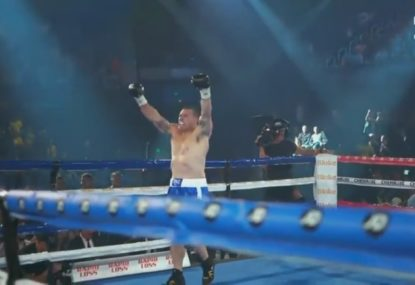 Paul Gallen drops Lucas Browne twice on way to shock first round TKO
