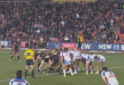 Penrith embarrass Knights with sneaky set play from the scrum