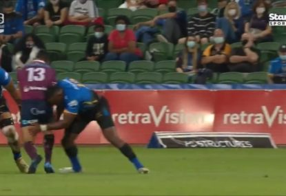 Tevita Kuridrani irons out Hunter Paisami with hit of the year contender